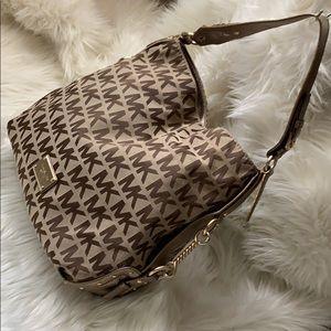 MK copper gold tote bag